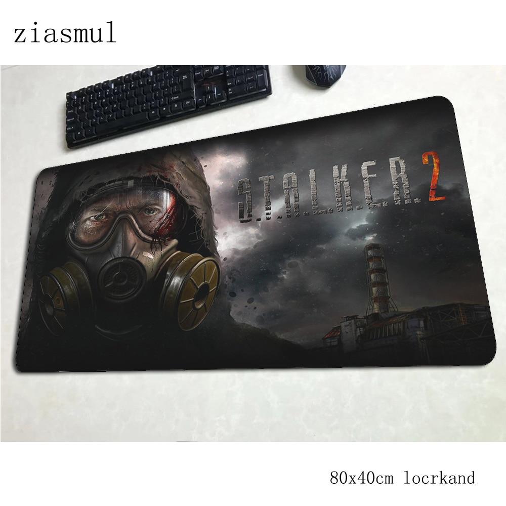 stalker mousepad 80x40cm best Computer mouse mat gamer gamepad pc xl gaming mousemat desk pad office padmouse