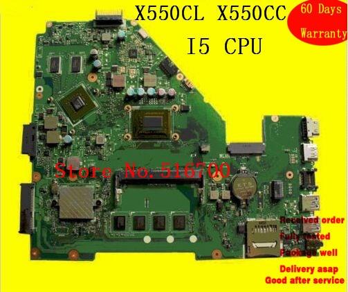 X550CC i5 CPU 4GB RAM Notebook PC Tablero Principal para ASUS X550C X550CC placa base de computadora portátil