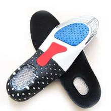 Unisex Solid Silicone Gel Insoles Foot Care For Plantar Fasciitis Heel Spur Sport Shoe Pad Insoles A