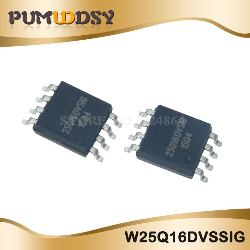 10 piezas nuevo W25Q16DVSSIG 16M chip de memoria SOP8 paquete compatible 25Q16DVSSIG IC