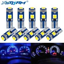 10Pcs T5 Led Bulb W3W W1.2W Led Canbus Car Interior Lights Dashboard warming indicator Wedge Auto Instrument Lamp 12V