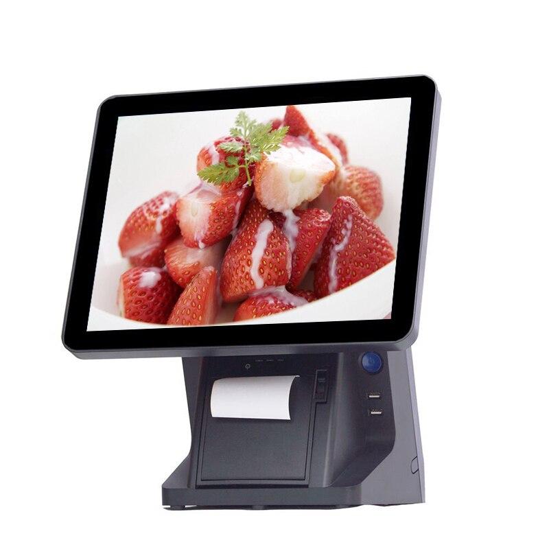 شاشة تعمل باللمس لنقاط البيع بالتجزئة ، نظام POS بشاشة تعمل باللمس مقاس 15 بوصة مع شاشة