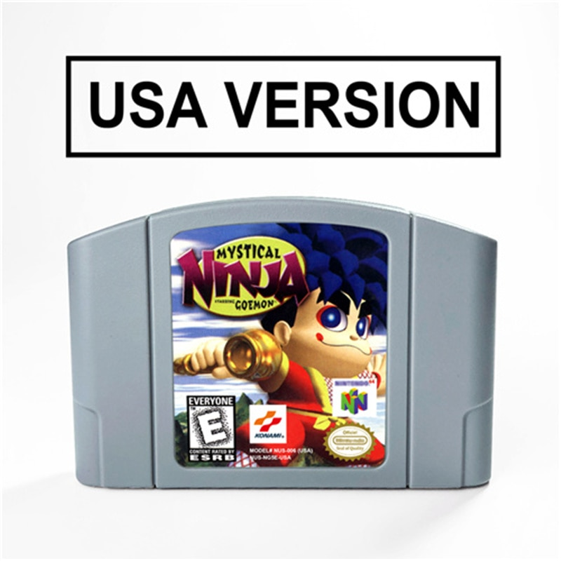 Mystical Ninja Starring Goemon For 64 Bit Video Game Cartridge USA Version NTSC Format