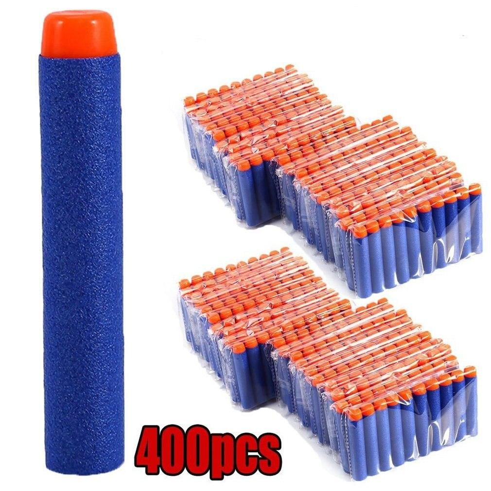 400pcs/set For Nerf Soft Bullets Darts Round Head Refill Sponge Darts Kids Children Toy Gun Bullets For NERF N-Strike Blasters