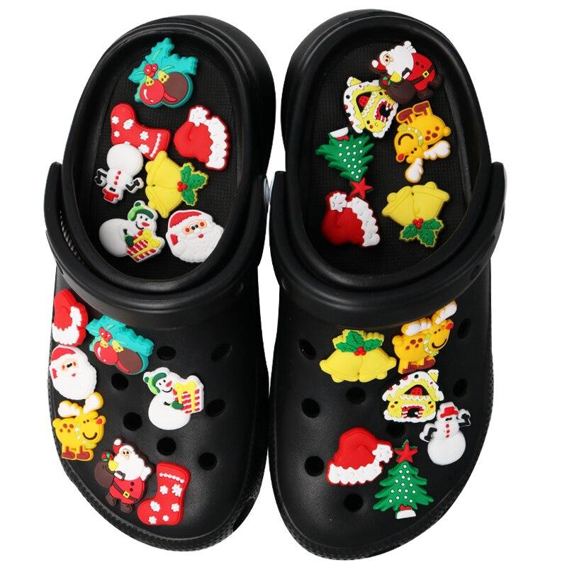 Подвески для обуви, подвески для обуви, аксессуары, украшения, новинка, Рождество, Хэллоуин, пряжка для обуви, Санта-Клаус, украшение для дете...