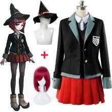 Nouveau Danganronpa 3 Yumeno Himiko Cosplay Costume tenue robe sur mesure Halloween Costumes ensemble complet veste + chemise + gilet + jupe + chapeau