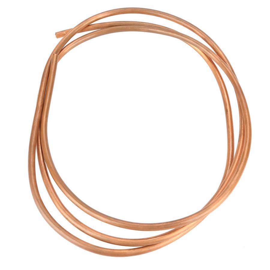 2m T2 suave bobina de tubo de cobre ID 4mm OD 6mm de espesor 1mm para piezas de herramientas de refrigeración para carpintería
