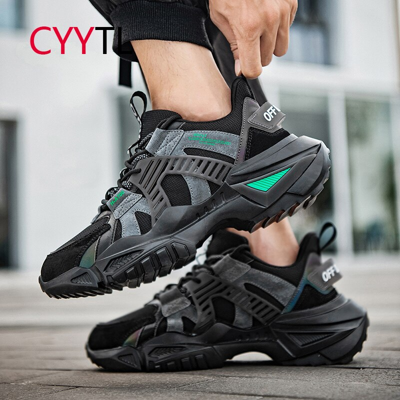CYYTL New Fashion Men Casual Sneakers Breathable Mesh Thick Sole Sport Youth Boys Running Shoes Walking Platform Training Tennis