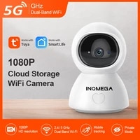 inqmega tuya hd smart wifi camera home security 5g ip camera wireless cam with privacy mode for baby support google home alexa