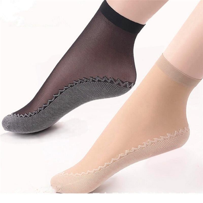 جوارب نسائية من الحرير المخملي ، جوارب قصيرة للربيع والصيف ، مسامية ، قطن ناعم ، مقاومة للانزلاق ، 10 أزواج