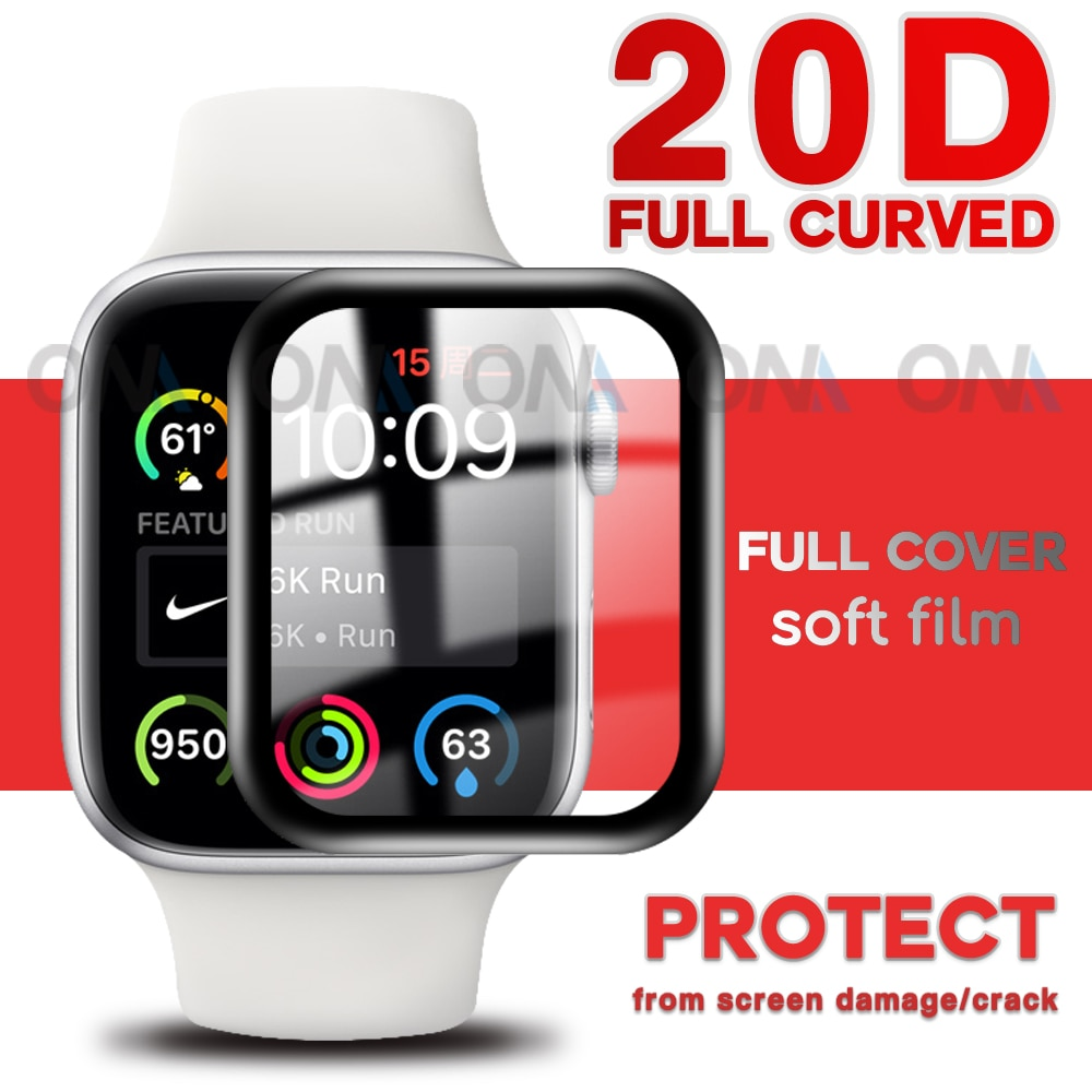 soft glass protector for apple watch series 6 se 5 4 40mm 44mm hydraulic anti fingerprint film for apple iwatch 3 2 1 38mm 42mm ONM 20D Screen Protector film For Apple Watch 7 6 5 4 SE 41mm 45mm 40mm 44mm iWatch Series 3 2 1 38mm 42mm Soft Protective Glass