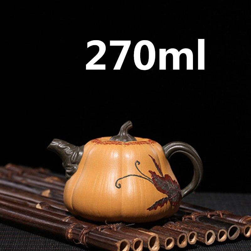 Yixing كلاي إبريق شاي إبريق شاي من السيراميك الصينية Yixing Zisha كلاي Gongfu طقم شاي Infuser 270 مللي وصل جديد جودة عالية مع صندوق هدية