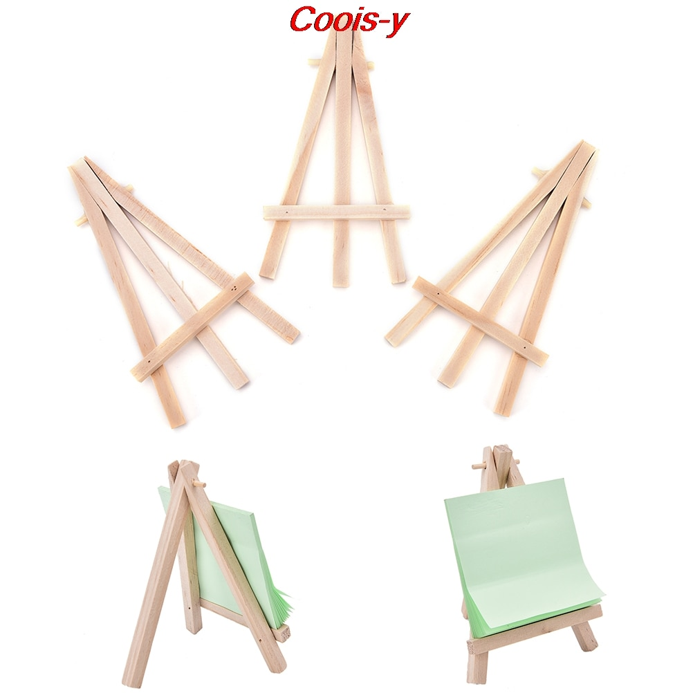 1pcs Wooden Mini Artist Easel Wood Wedding Table Card Stand Display Holder For Party Decoration 12.5*7cm kicute wood artist easel wedding table number place name card photos stand display holder diy party table tools