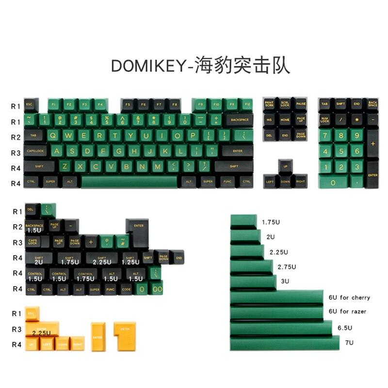 Domikey sellos SA perfil DOLCH doble ABS teclas para MX interruptor Teclado mecánico para jugar 158 teclas