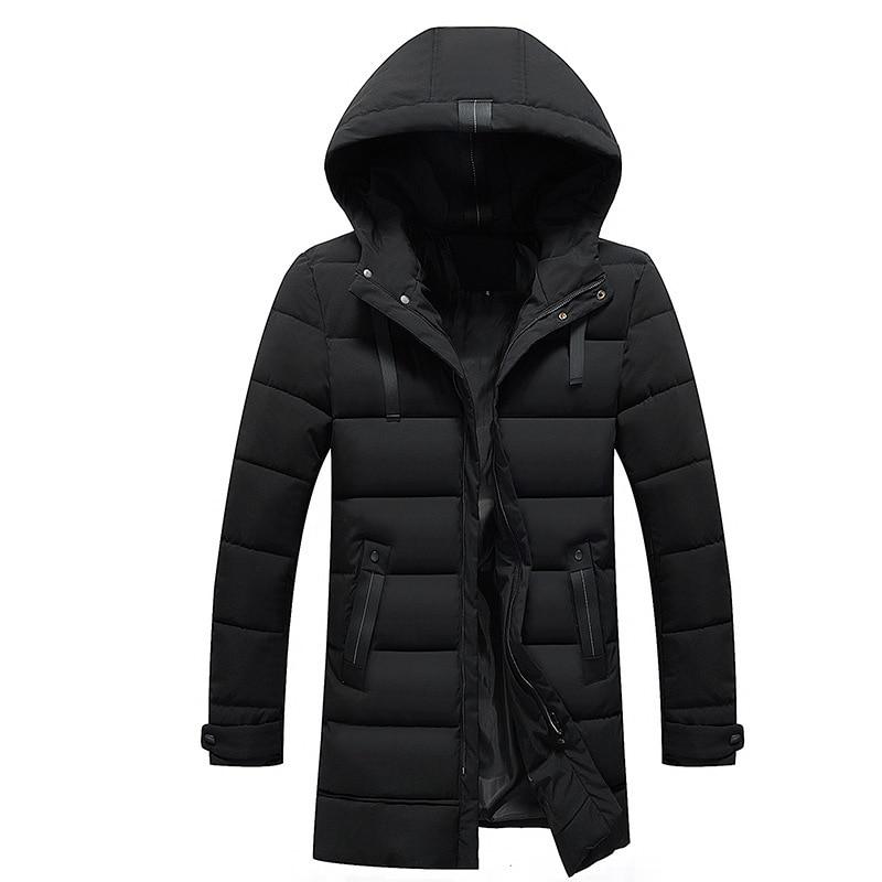 Мужская теплая парка FAVOCENT, длинная куртка с капюшоном, плотная парка для отдыха, размера плюс 5XL, зима 2019