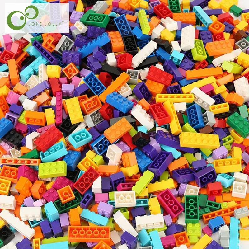 1100 piezas/500 piezas bloques de construcción de la ciudad DIY bloques creativos figuras de modelos a granel juguetes educativos para niños compatibles con todas las marcas GYH