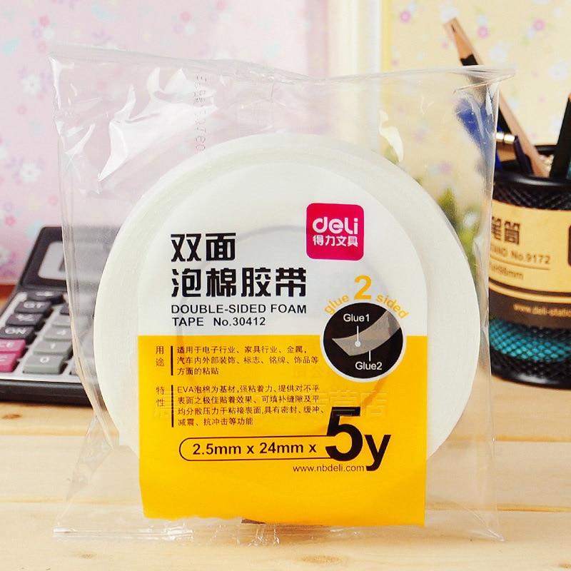 Fita de dupla face adesiva da adesão forte da espuma super da fita de 24mm * 4.5m para o escritório dos artigos de papelaria da escola