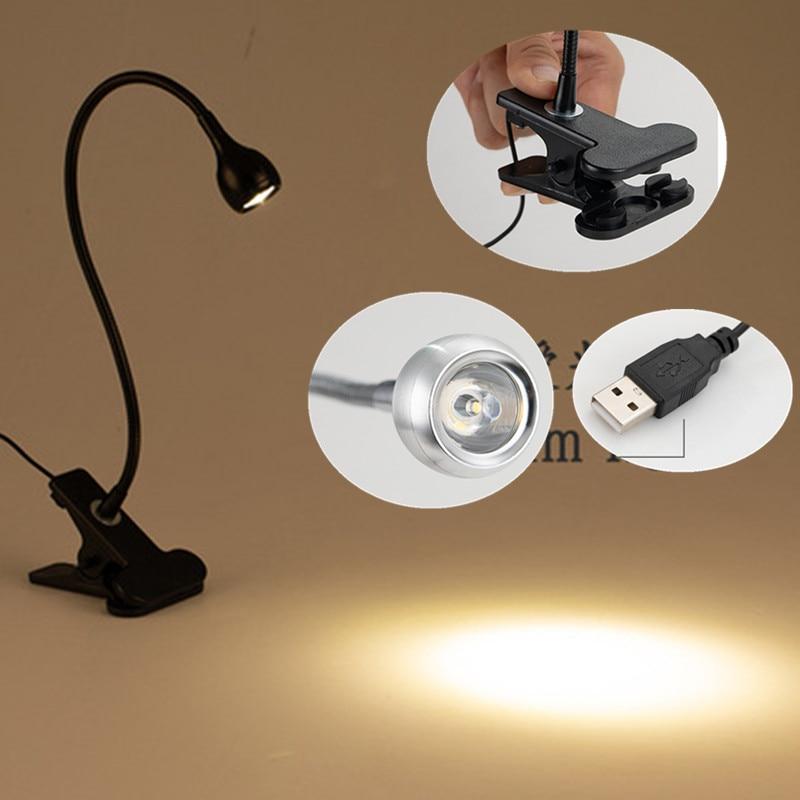 2020 LED schreibtisch lampe Clip Halter USB Flexible Tisch Lampe nacht lampada Buch licht für die schlafzimmer wohnzimmer hause dekoration