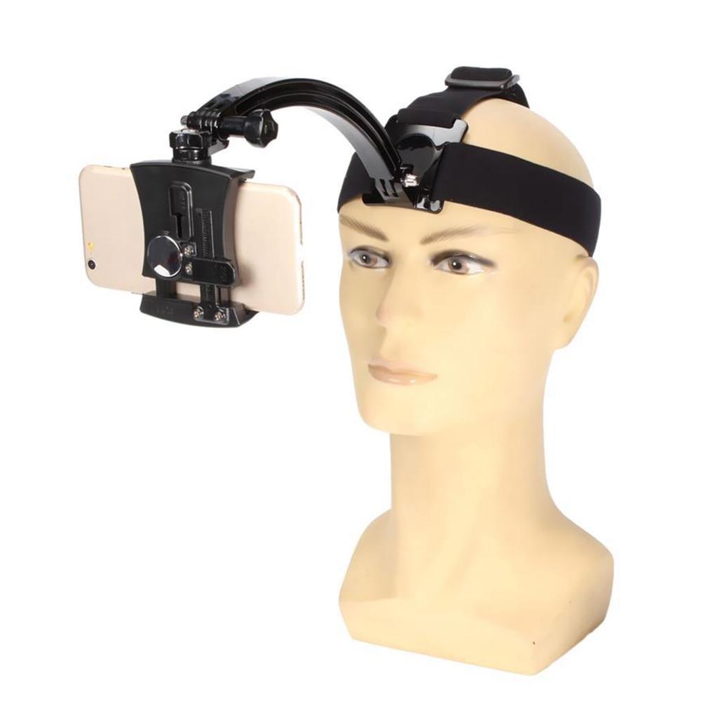 Neck hanging head band mobile phone holder GoPro bracket camera stand for taking video as riding walking running