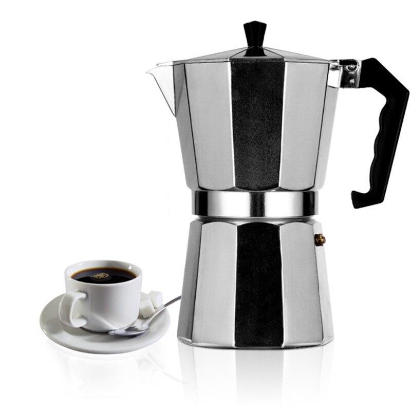 الإيطالية موكا إسبرسو Coffeeware المخاوي اتيه الألومنيوم القهوة صانع مزحلة وعاء 100/200/300/450/600 مللي السميد القهوة آلة