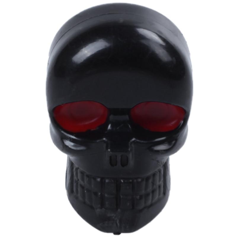 10x sujetador de etiquetas de motocicleta calavera marco para matrícula pernos tornillos negro ojo rojo