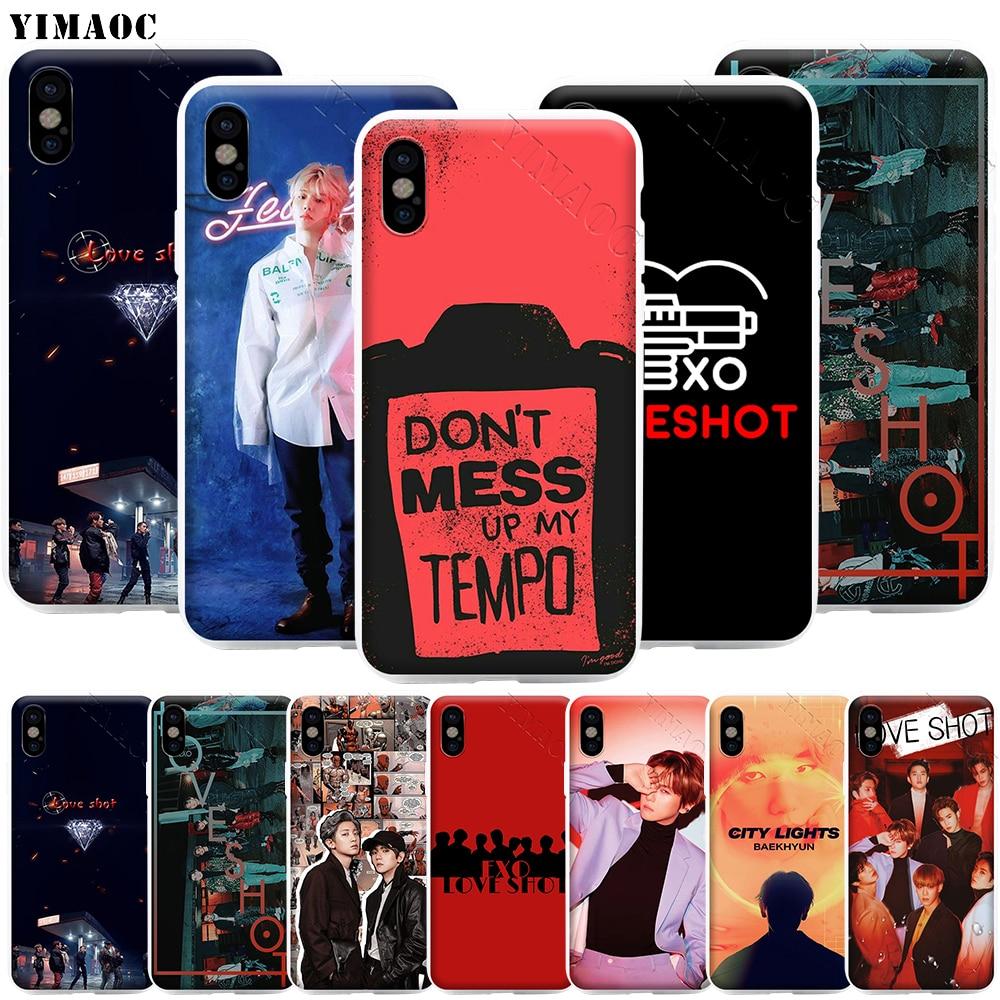 YIMAOC EXO Love Shot BAEK HYUN чехол для телефона для iPhone 11 Pro XS X XR Max 8 7 6 6S Plus SE 5S