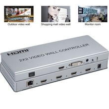 HDMI Video Wall Controller 2x2 Video Wall Monitor Splicing Processor 4x1 3x1 2x1 DVI HDMI Input 4 TV Out A Dynamic Screen Image