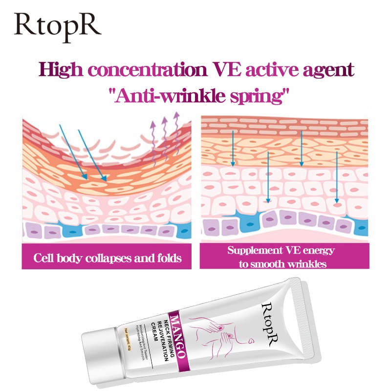 RtopR Neck Firming Rejuvenation Cream Anti-wrinkle Firming Skin Whitening Moisturizing Neck Serum Be
