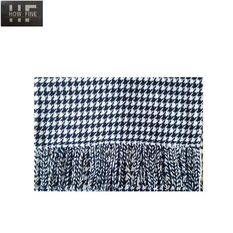 How Fine Brand 2021 Fashion Luxury Brand Autumn and Winter adult School Scarf Female British Shawl Dual-use Thick Couple Scarf