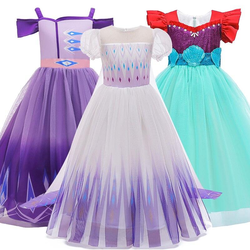 Vestido de princesa para niñas de verano, disfraz de Cosplay para niños de 3 a 10 años, vestidos para niñas, ropa para niños