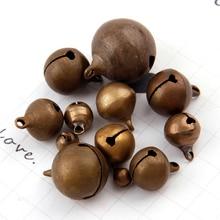 Plus de tailles Bronze métal Jingle cloches perles en vrac Festival fête arbre de noël décorations bricolage artisanat accessoires