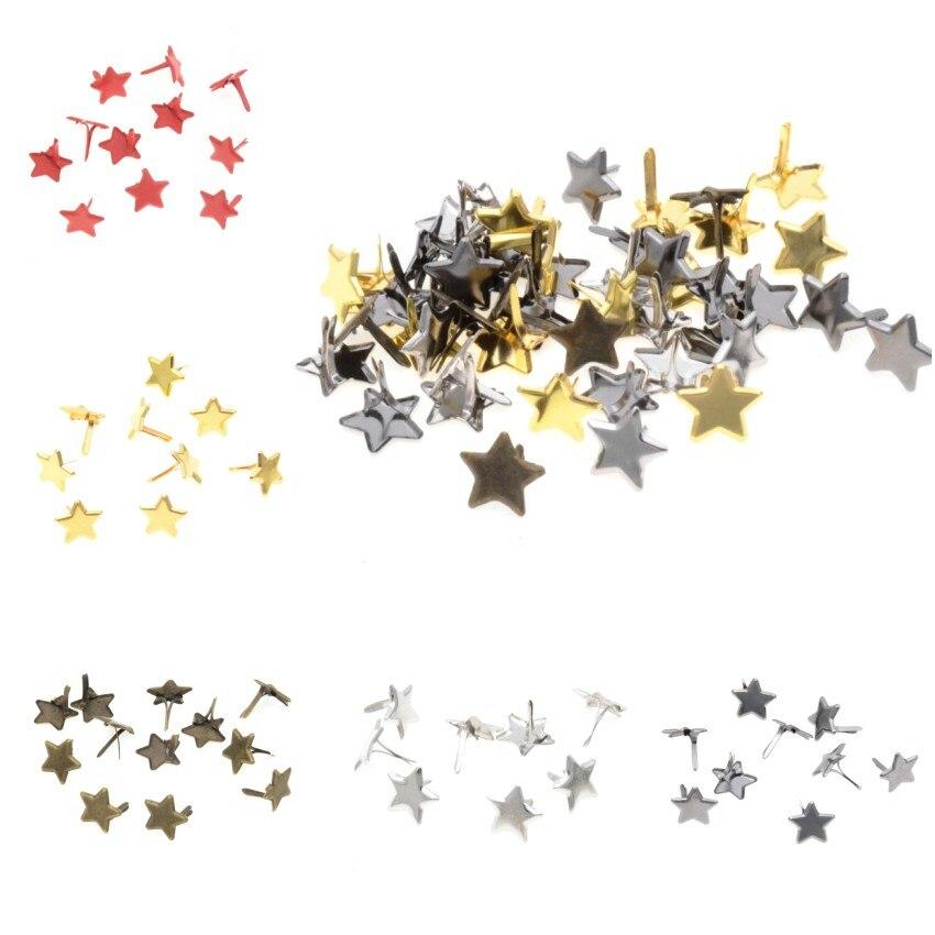 Frete grátis-diy 50 pçs pastel estrela brads scrapbooking enfeite decoração do feriado & presente 14*14mm
