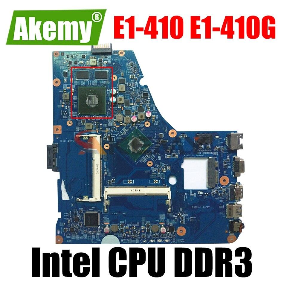 13233-1M 13233-SB لشركة أيسر أسباير E1-410 اللوحة الأم للكمبيوتر المحمول E1-410G مع إنتل وحدة المعالجة المركزية 48.4OC10.01M EA40-BM DDR3 100% اختبارها بالكامل