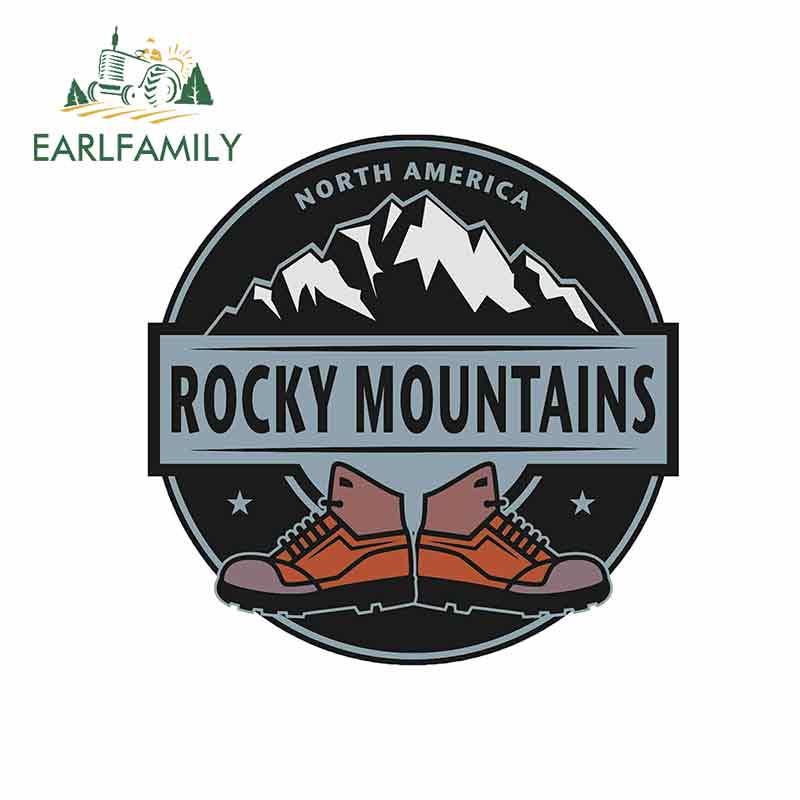 EARLFAMILY 13cm x 13cm para las Montañas Rocosas pegatinas de vinilo de coche JDM impermeable RV VAN Fine calcomanía accesorios de coche gráficos de dibujos animados