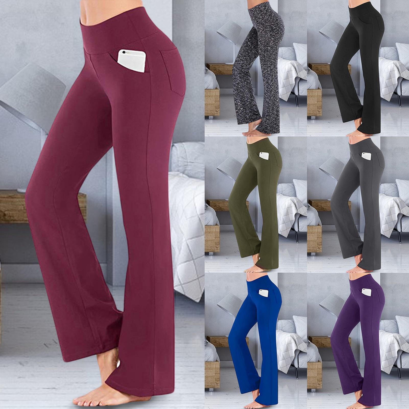 Women Cotton Ballet Trousers Girls Adult High Waist Stretch Bell-bottoms Dance Flare Pants Broad Leg Yoga Sport Ballet Pants