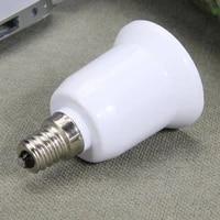 led lamp bulb base conversion holder converter socket adapter e14 to e27 led halogen fireproof material for home lightlighitng