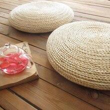 Pouf rond coussin de tissage fait à la main   Oreiller de soie, doux, sol de chaise de Yoga, tapis de siège, tapis de fenêtre, Tatami, Hot Sal