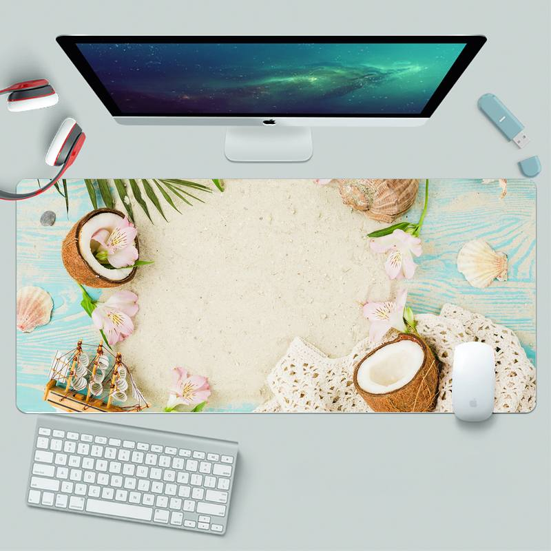 Coconut leaves Laptop Computer Mousepad XL Large Gamer Keyboard PC Desk Mat Takuo Computer Tablet Mouse mat