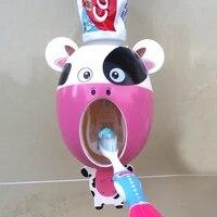 Distributeur automatique de dentifrice pour enfants  support mural amusant pour brosse a dents  ensemble daccessoires de salle de bain