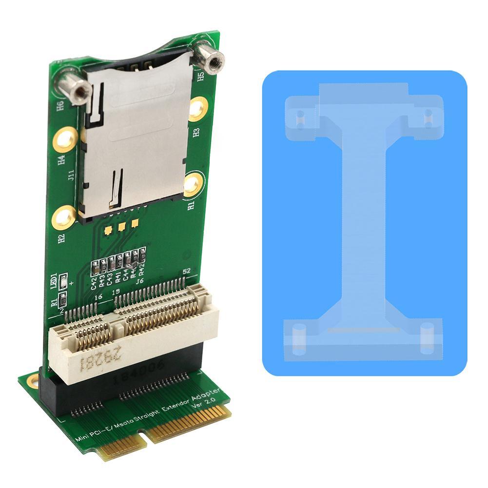 Mini tarjeta adaptadora PCI Express con ranura para tarjeta SIM para WiFi 3G 4G WWAN LTE módulo compatible con módem HSPA GPS 4G WiMAX y LTE