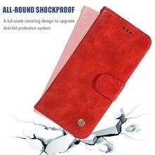 Voor Oneplu 7 Pro 6 Retro Wallet Magnetic Stand Flip Leather Telefoon Case Voor Oneplus 6T 5T Silicone effen Kleur Cover