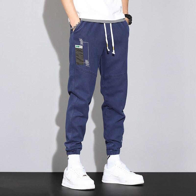 Мужские брюки весна-лето 2021 Новинка мужские повседневные брюки Модные Молодежные свободные большие удобные дышащие корсеты Комбинезоны