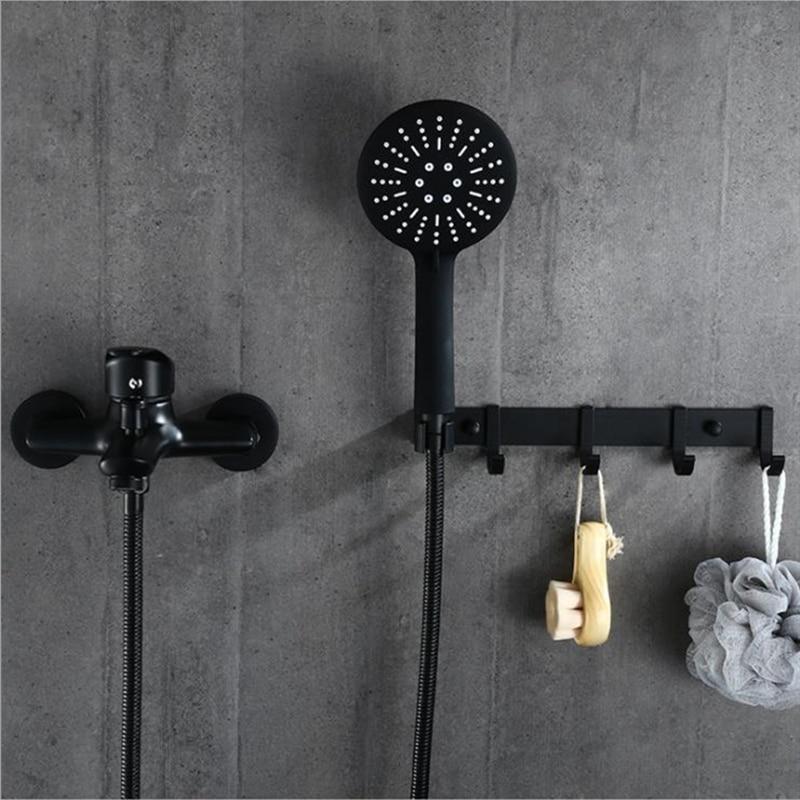 1 مجموعة الحمام حوض صنبور واحدة مقبض الباردة والساخنة خلاط الحنفية مع اليد دش الحائط حمام صنبور حوض صنبور