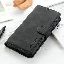 Redmi nota 9 s caso da aleta redmi nota 9 s s9 360 proteger capa carteira de couro retro para xiaomi redmi nota 9 pro max caso à prova de choque