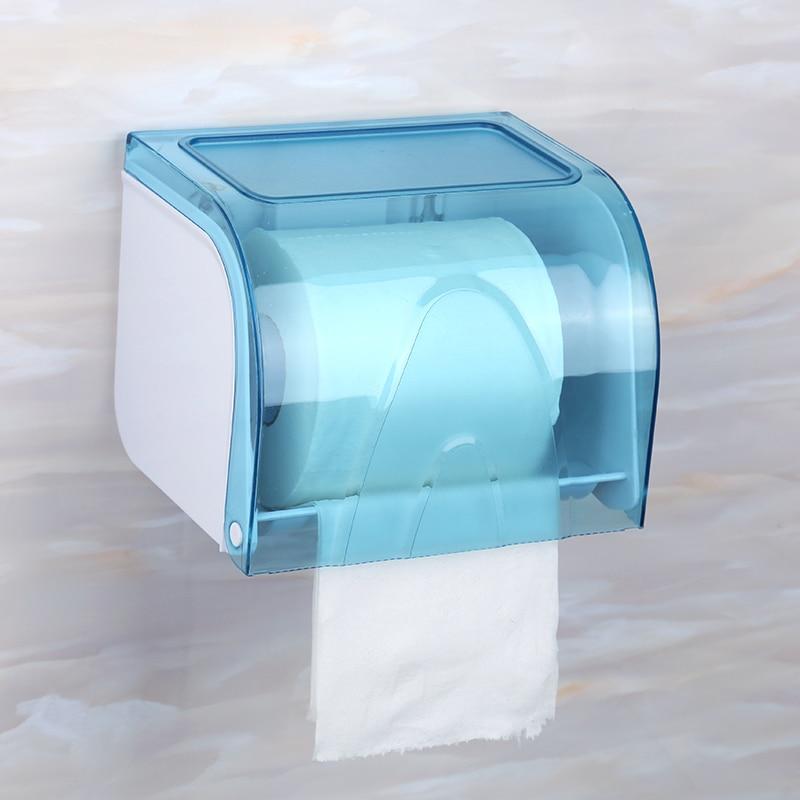 Waterproof Toilet Paper Holders Wall Mount Transparent Tissue Box Holder Bathroom  Wc Rolhouder Bathroom Accessories DK50TP enlarge