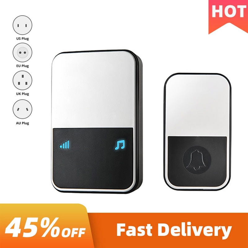 Wireless Doorbell Smart Ring Loud Chime Pager Welcome Household Long-Distance Electronic Home Securi