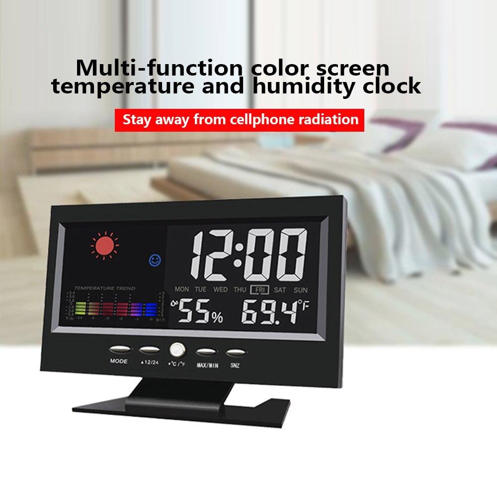 Многофункциональные цифровые настольные часы с ЖК-дисплеем
