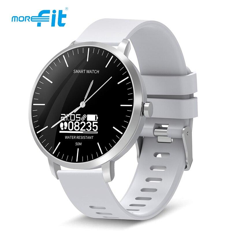[Liquidação] morefit 310 1.3 polegada tela redonda homens relógios inteligentes monitor de freqüência cardíaca à prova dwaterproof água esporte relógio para andriod ios