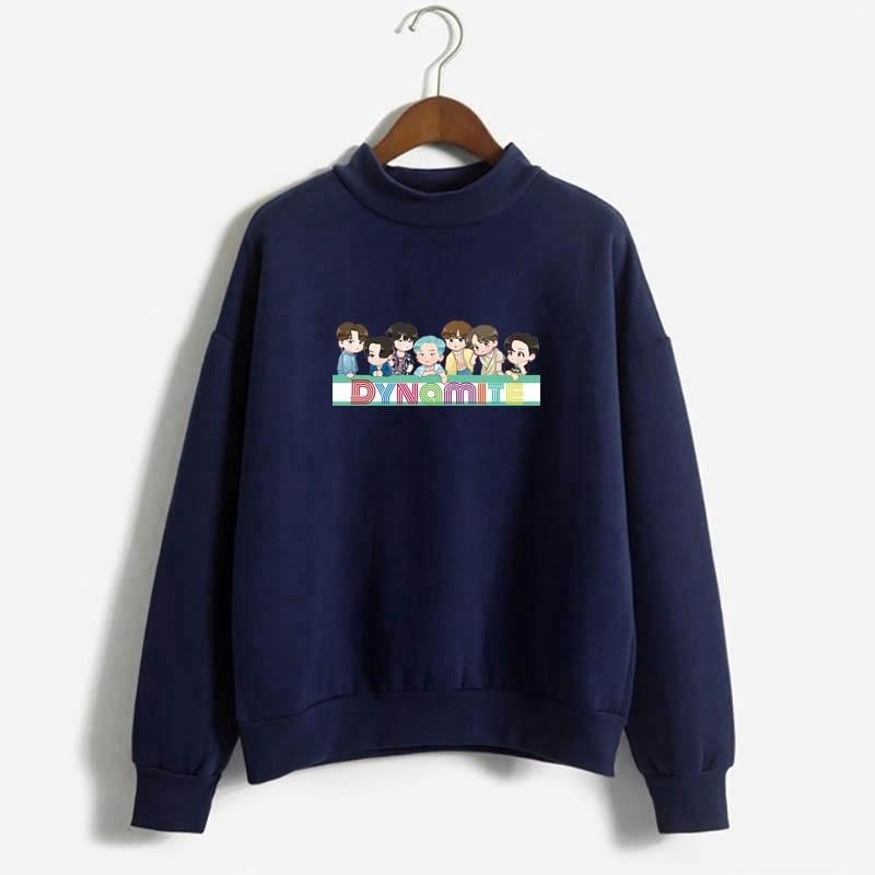 Hot Kpop Harajuku Hoodies Men Kawaii dynamite lover Be Printed Bangtan Boys Harajuku Sweatshirt Bat sleeve Black Unisex Male Top