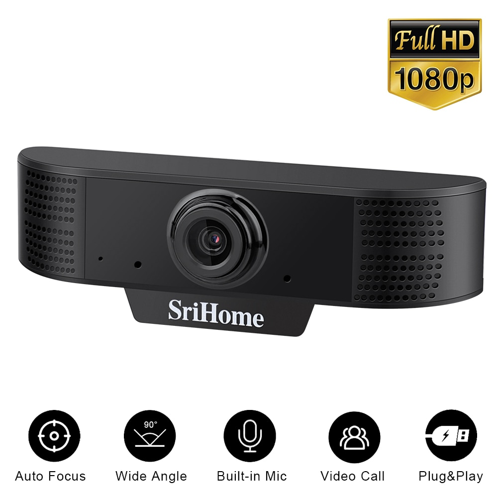 mini webcam full hd 1080p usb camera webcamera auto focus 1920*1080 web camera for computer with microphone For OS Windows10/8